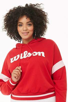 Forever 21 Plus Size Wilson French Terry Hoodie
