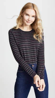 Bop Basics Metallic Stripe Pullover