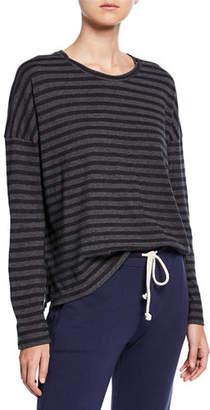 Vince Bengal-Stripe Scoop-Neck Long-Sleeve Cotton Tee