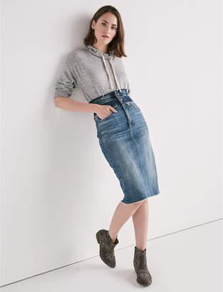 Lucky Brand Remade Stacked Waist Pencil Skirt