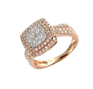 Effy 14K White and Rose Gold 0.75ct Diamond Ring