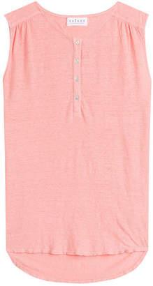 Velvet Sleeveless Linen Top