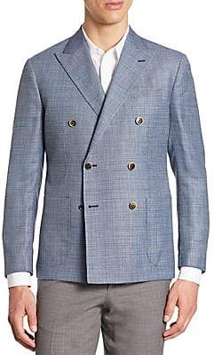 Saks Fifth Avenue Double-Breasted Coat
