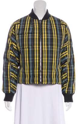 Diane von Furstenberg Plaid Bomber Jacket