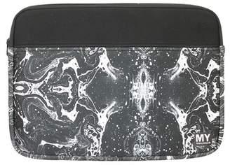 MYTAGALONGS Onyx Black Marble Neoprene Laptop Sleeve