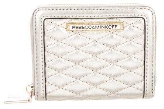 Rebecca Minkoff Metallic Leather Wallet - GOLD - STYLE