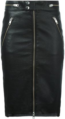 Diesel zipped leather skirt $519.07 thestylecure.com