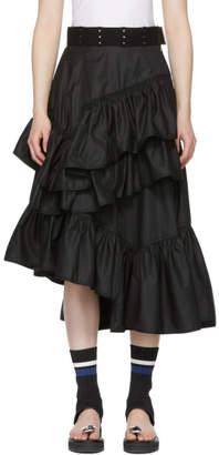 3.1 Phillip Lim Black Multi-Layer Flamenco Skirt