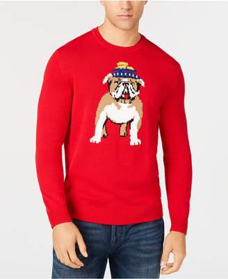 Club Room Men's Bulldog Skier Graphic Sweater