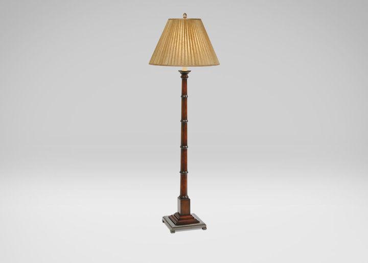 Turned Wood Floor Lamp