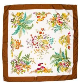 Gucci Silk Floral Print Scarf