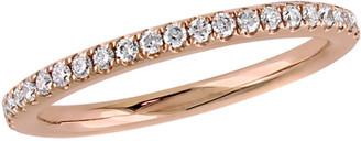 Diamond Select Cuts 14K Rose Gold 0.31 Ct. Tw. Diamond Wedding Band