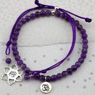 At Notonthehighstreet Lily Mo Active Silver Chakra Bracelets