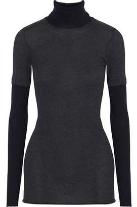 Enza Costa Cotton And Cashmere-Blend Jersey Turtleneck Top