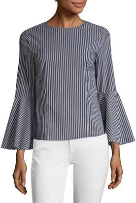 Pure Navy Women's Bell-Sleeve Top