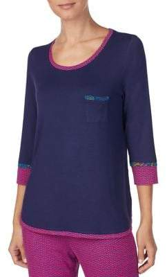 Kensie Three-Quarter Sleeve Pyjama Top