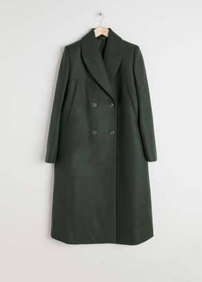 And other stories Wool Blend Cape Coat