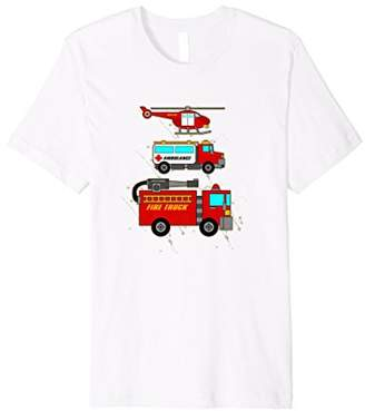 EMS Fire Truck Ambulance Rescue Helicopter Shirt Gift