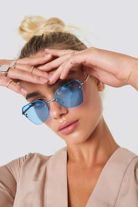 cbe66cf99b8 ... Cat Eye Na Kd Accessories Angular Metal Sunglasses Blue