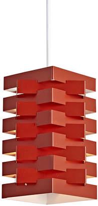 Rejuvenation Red Danish Nordisk Solar Folded Steel Pendant