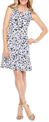Ronni Nicole Sleeveless Floral Puff Print Shift Dress