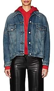 MM6 MAISON MARGIELA Women's Denim Oversized Trucker Jacket - Blue