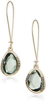 Kenneth Cole New York Scattered Pave Gold Tone With Stone Drop Earrings