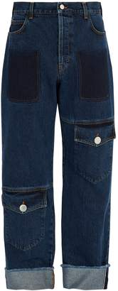 J.W.Anderson Button-fastening flap-pocket jeans