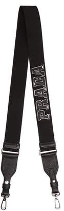 Prada Letter Leather Bag Strap - Mens - Black