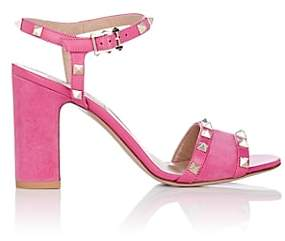 Valentino Women's Rockstud Suede & Leather Sandals-Pink