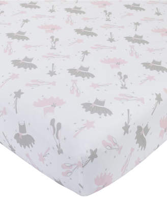 NoJo Ballerina Bows Crib Sheet Bedding