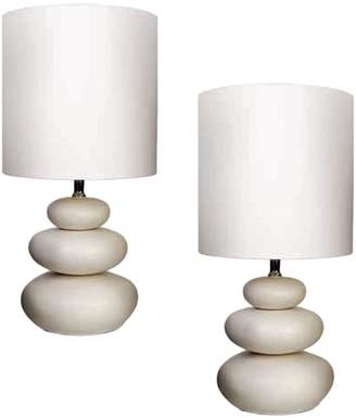 Amalfi by Rangoni Pebble Table Lamp (Set of 2)