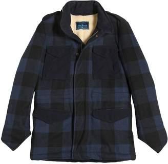 Myths Plaid Wool Flannel & Faux Shearling Coat
