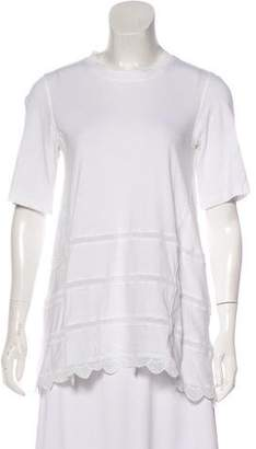 Chloé Short Sleeve Scalloped Hem Top