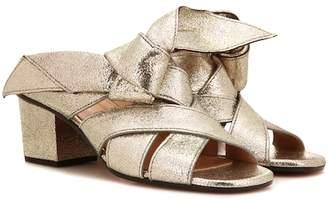 Chloé Metallic leather sandal
