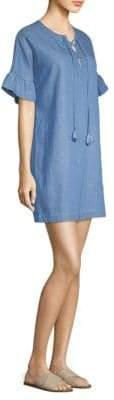 Vineyard Vines Chambray Lace-Up Dress