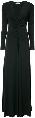 Halston ruched front dress