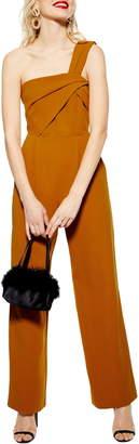Topshop LA Tuck One-Shoulder Jumpsuit