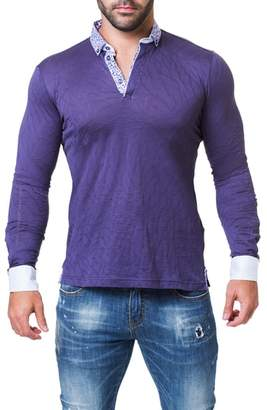 Maceoo Newton Trim Fit Long Sleeve Polo