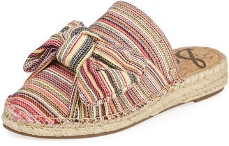 Sam Edelman Lynda Fabric Bow Slide Mules