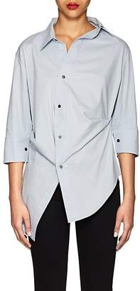 Ji Oh Women's Asymmetric Cotton Poplin Blouse