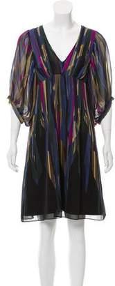 Ted Baker Long Sleeve Knee-Length Dress