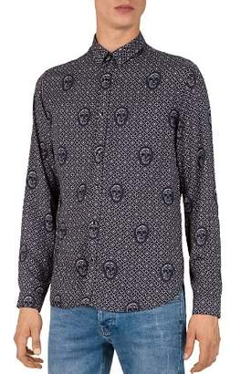 The Kooples Relief Skull Slim Fit Button-Down Shirt