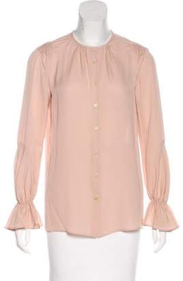 Derek Lam Long Sleeve Button-Up Top