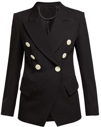 Petar Petrov Double Breasted Virgin Wool Jacket - Womens - Black
