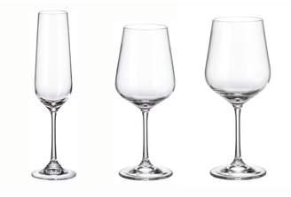 Red Vanilla Strix 18-Piece Crystal Assorted Glassware Set