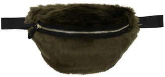 Landlord Green Faux-Fur Belt Pouch
