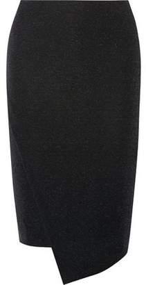 By Malene Birger Nilonasho Asymmetric Metallic Stretch-Knit Skirt
