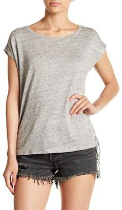 Chaser Lace-Up Side Linen Blend Tee