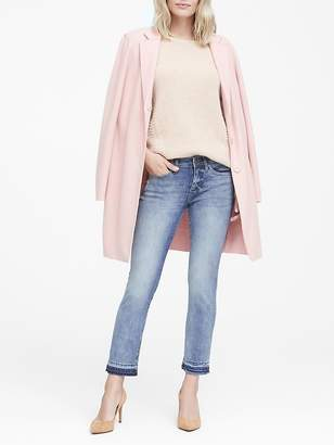 Banana Republic Girlfriend Light Wash Jean with Fray Hem
